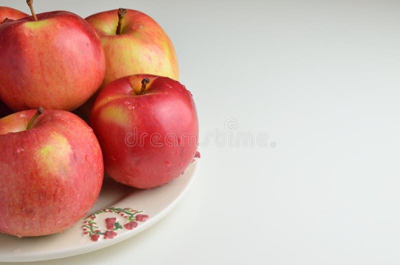 Красные яблоки и космос экземпляра стоковые фото