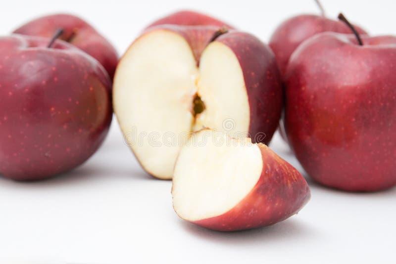 Красные яблоки стоковое фото