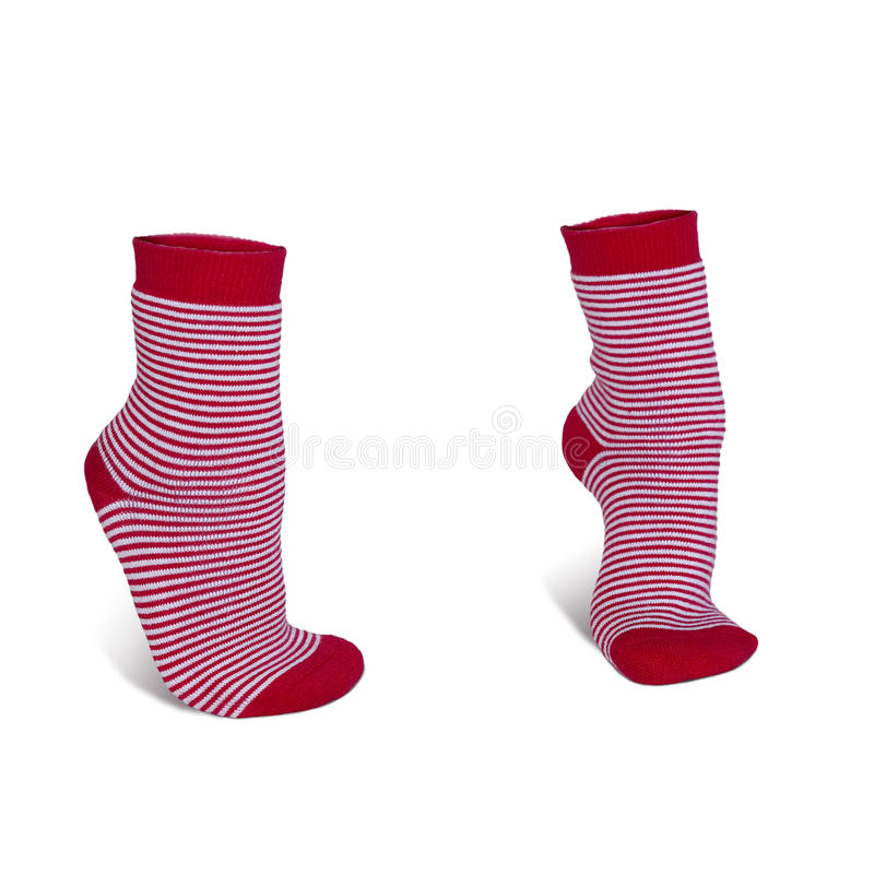 красные striped носки стоковое изображение rf