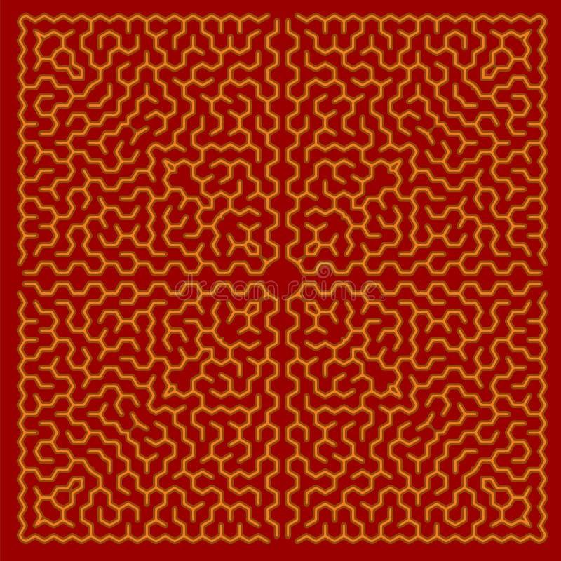 Красный лабиринт Лабиринт детей иллюстрация вектора