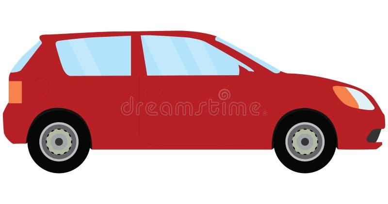 Красный автомобиль иллюстрация вектора
