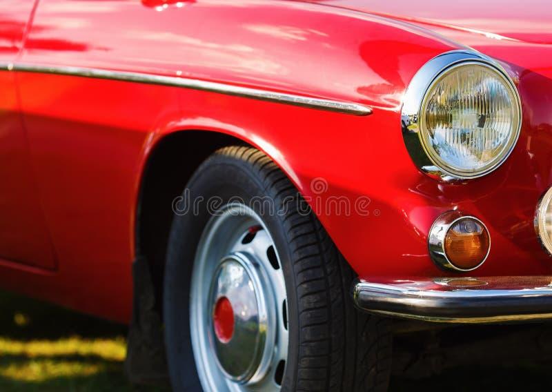 Красный автомобиль год сбора винограда стоковые изображения rf