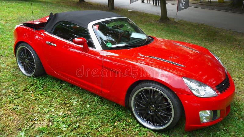 Красный автомобиль спортов стоковые фотографии rf