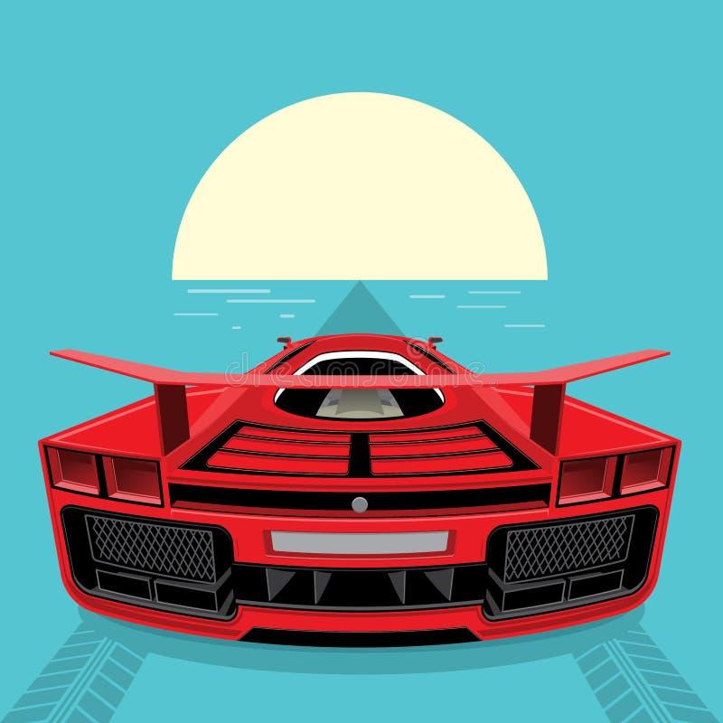 Красный автомобиль спортов иллюстрация вектора
