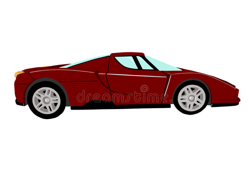 Красный автомобиль спортов стоковое изображение rf