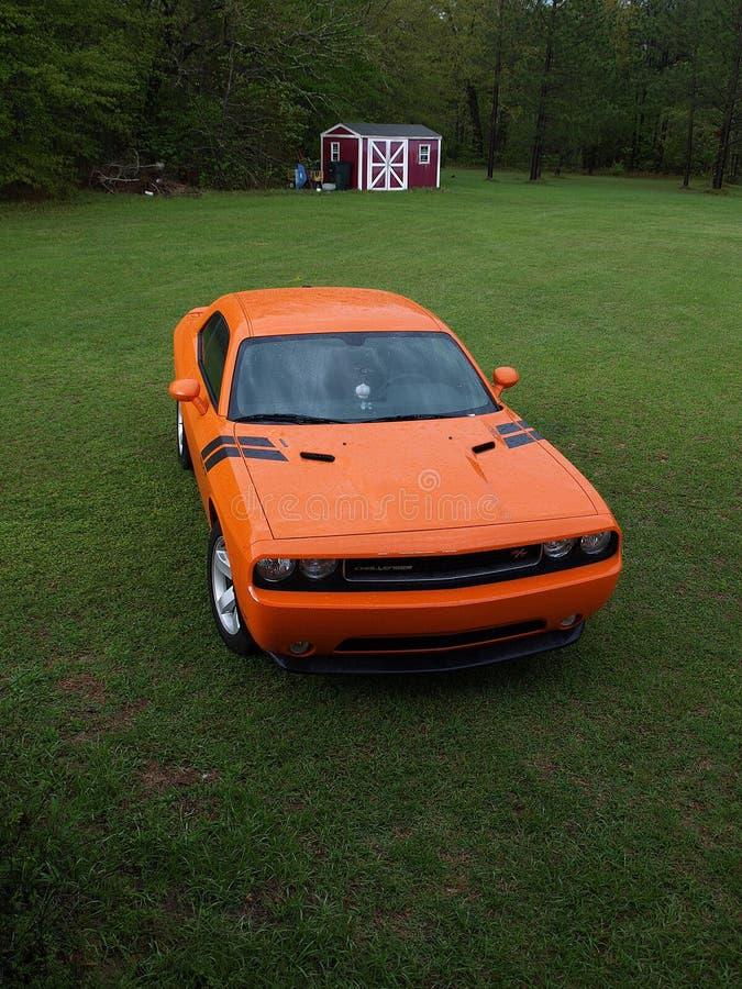 Красный американский автомобиль мышцы стоковое изображение