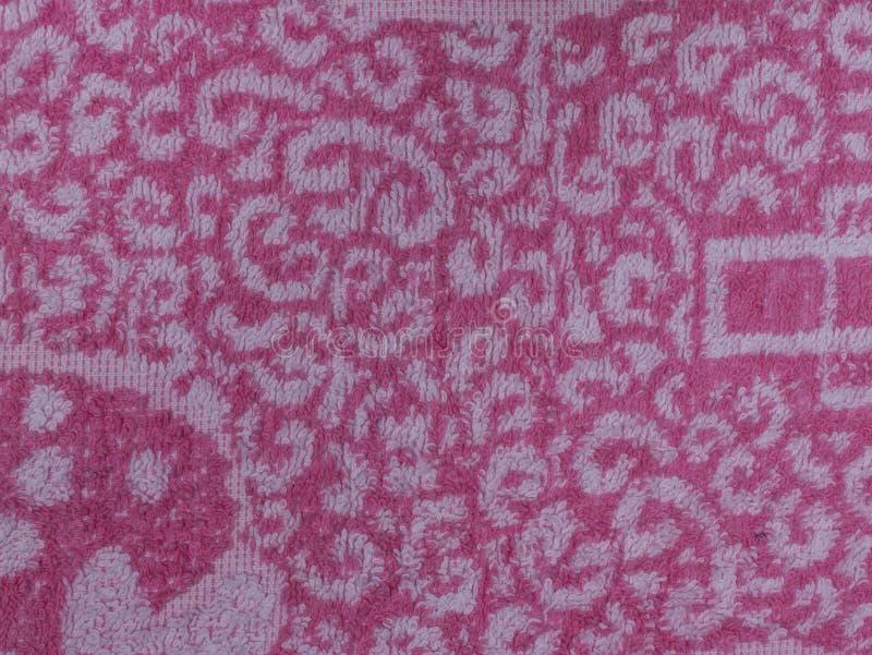 Красный белый красочный конец-вверх ткани Terry стоковое фото rf