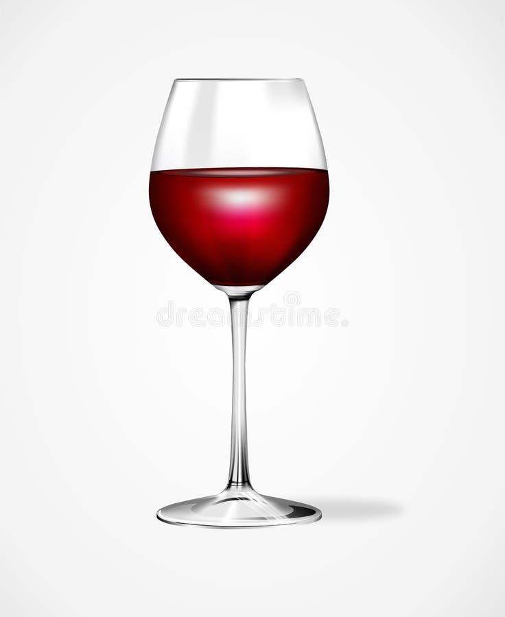 Красный бокал изолированный на белой предпосылке иллюстрация вектора