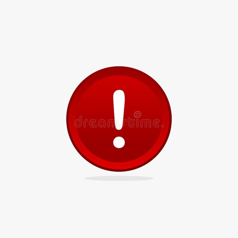 Красный вектор иллюстрации знака 3d предупреждающий бесплатная иллюстрация