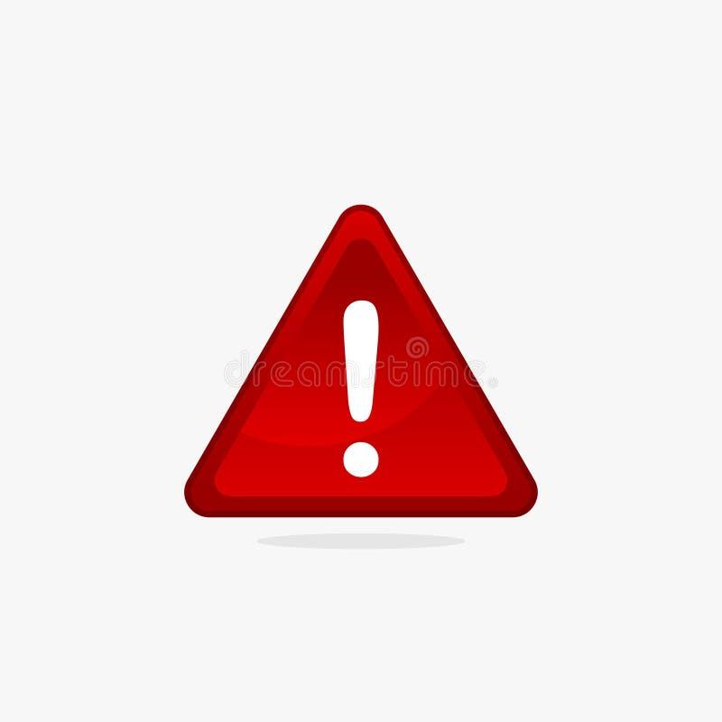 Красный вектор иллюстрации знака 3d предупреждающий иллюстрация штока