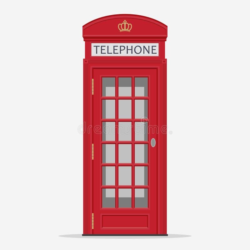 Красный вектор телефонной будки улицы Лондона бесплатная иллюстрация