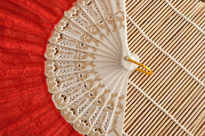 Красный вентилятор руки стоковая фотография rf