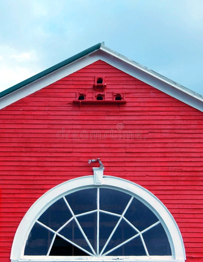 красный верх амбара Стоковая Фотография
