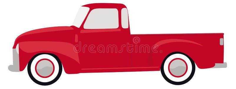 Красный винтажный вектор иллюстрации тележки иллюстрация штока