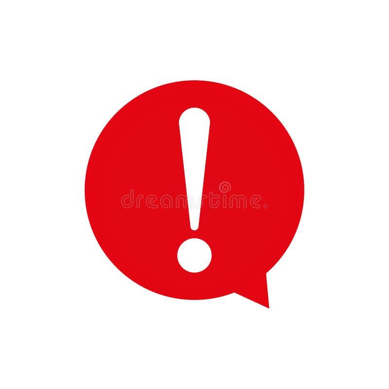 Красный восклицательный знак Символ пузыря речи внимания красный восклицательный знак, вектор eps10 символа внимания бесплатная иллюстрация