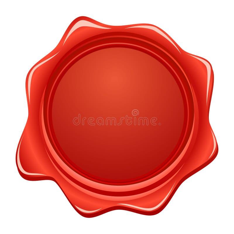 красный воск вектора уплотнения иллюстрация вектора