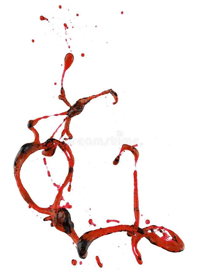 Красный выплеск крови иллюстрация штока