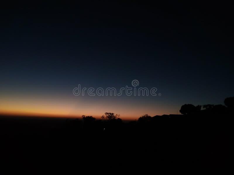 Красный горизонт стоковое изображение