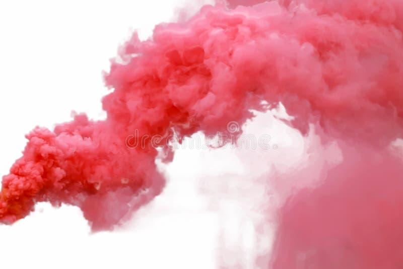 красный дым стоковое изображение