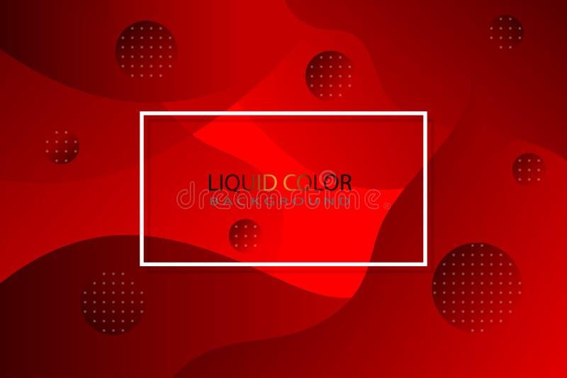 Красный жидкостный цвет как предпосылка иллюстрация штока