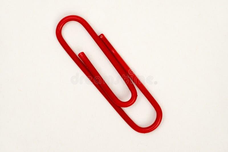 Красный зажим стоковое изображение rf