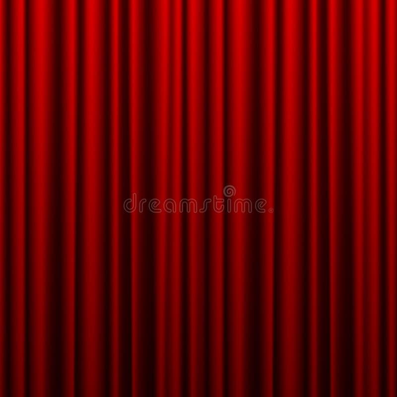 Красный занавес театра Фон для баннера или плаката Вектор иллюстрация штока