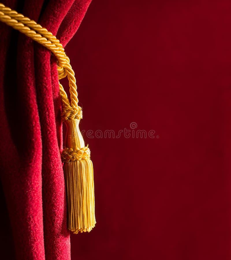 Красный занавес театра стоковые фото