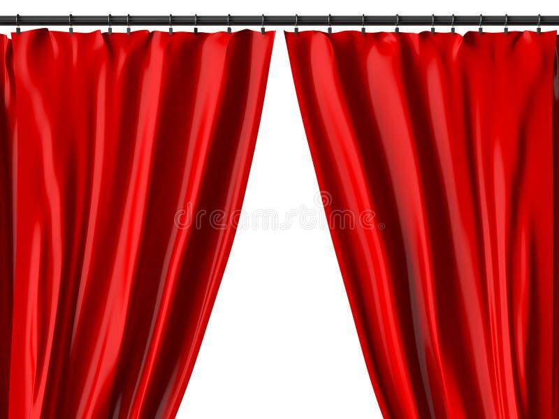 Красный занавес стоковое изображение