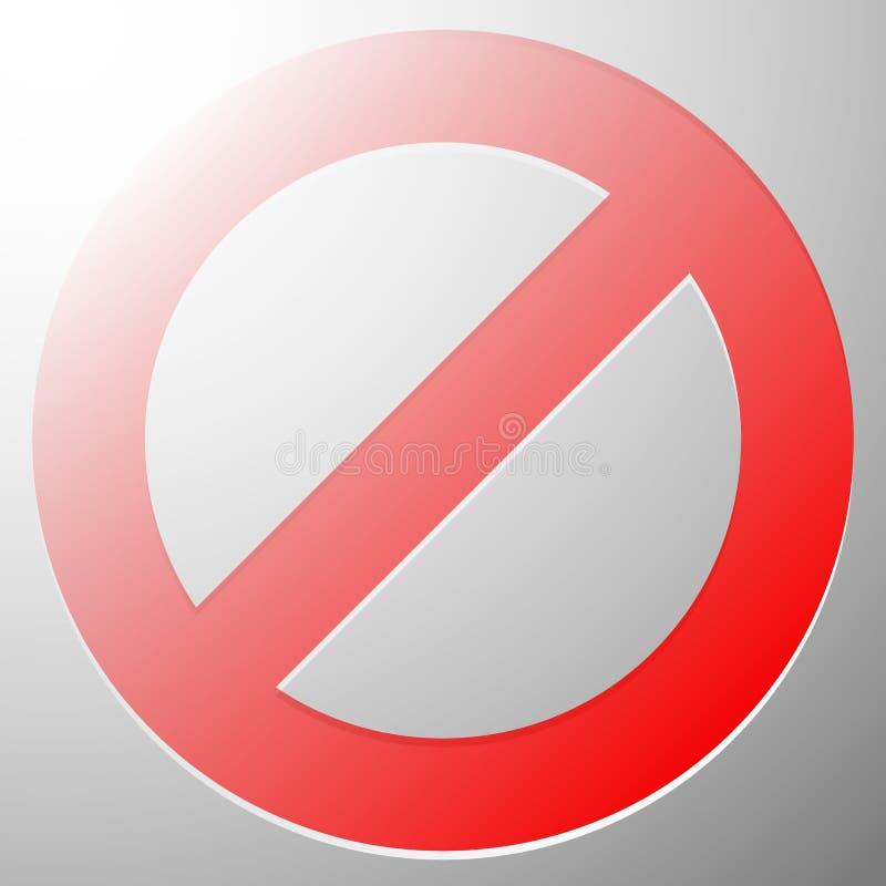 Download Красный запрет, знак ограничения - сброс, закрыл, никакое Entran Иллюстрация вектора - иллюстрации насчитывающей защитите, опасность: 81810967