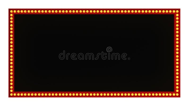 Красный знак доски света шатёр ретро на белой предпосылке перевод 3d стоковое изображение rf