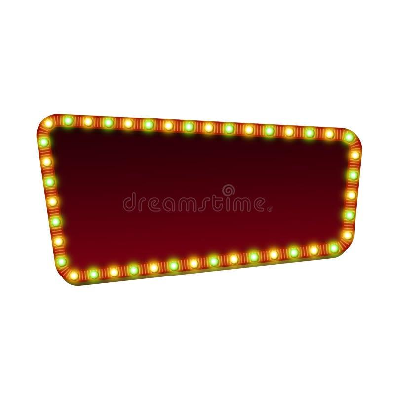 Красный знак шатёр улицы с светлым и пустым пространством иллюстрация вектора