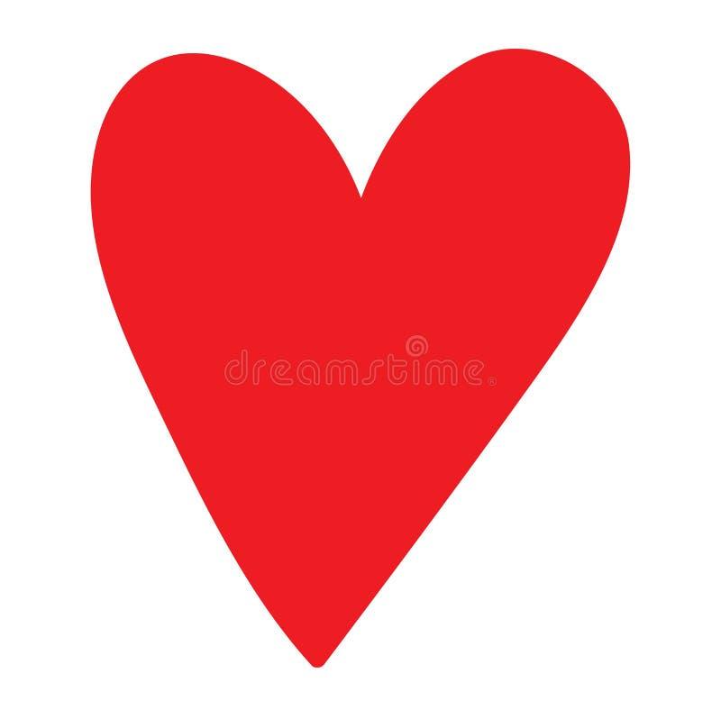 Красный значок вектора сердца иллюстрация вектора