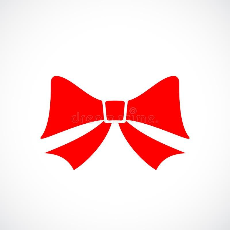 Красный значок вектора смычка иллюстрация штока