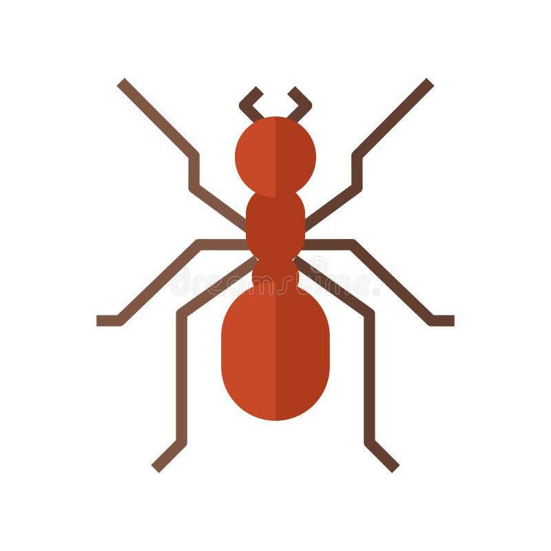 Красный значок муравья иллюстрация вектора