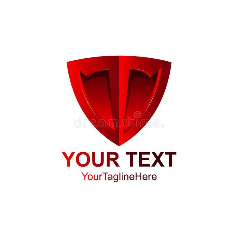 Красный значок формы экрана знак эмблемы 3D изолированный на белом backgrou иллюстрация штока