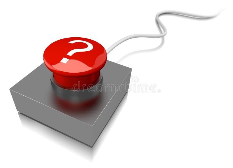 Красный зуммер с вопросительным знаком иллюстрация вектора