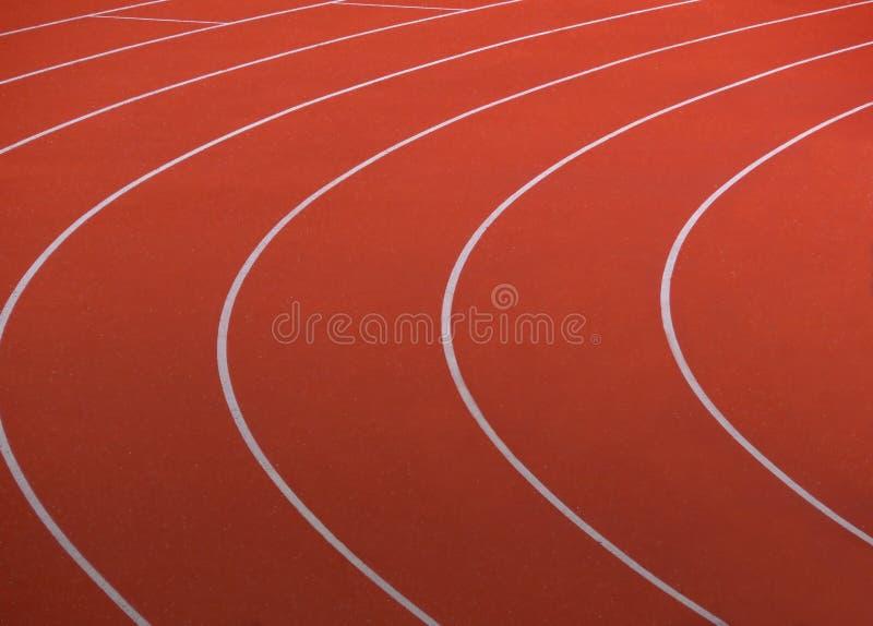 красный идущий след стоковое изображение