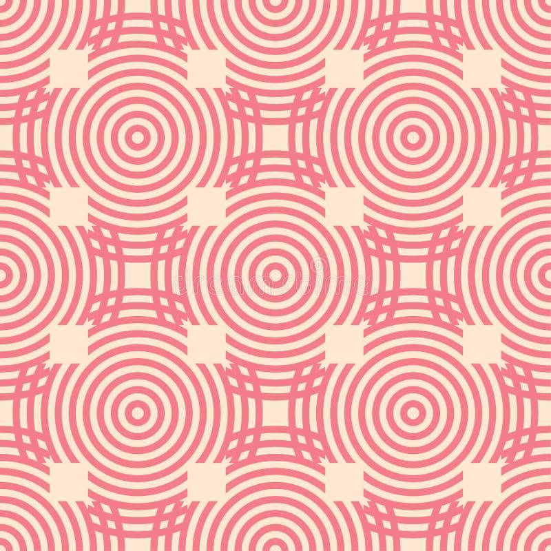 Красный и бежевый геометрический орнамент картина безшовная бесплатная иллюстрация
