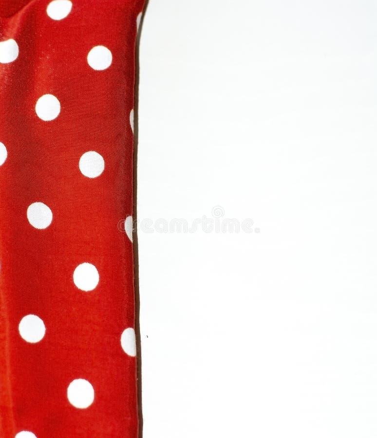 Красный и белый допустимый предел ткани точки польки стоковая фотография rf