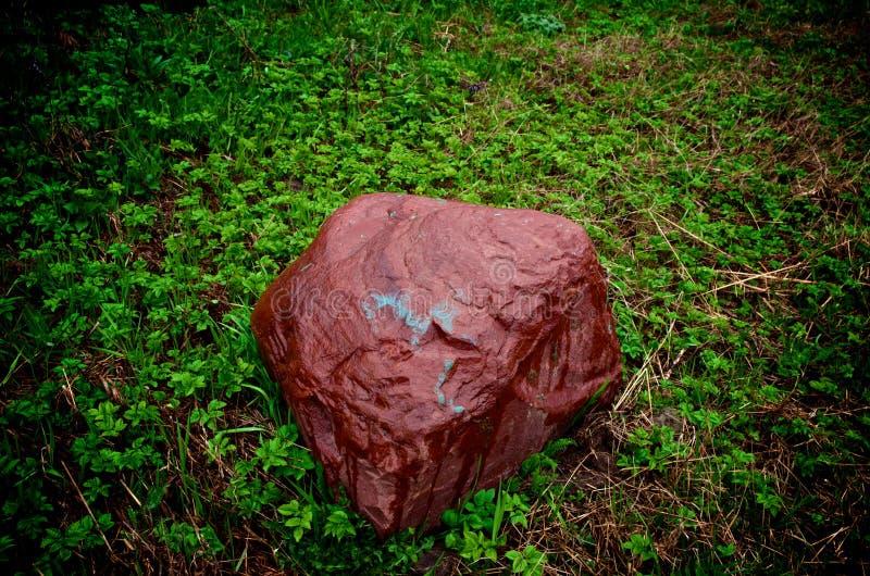 Красный камень стоковая фотография