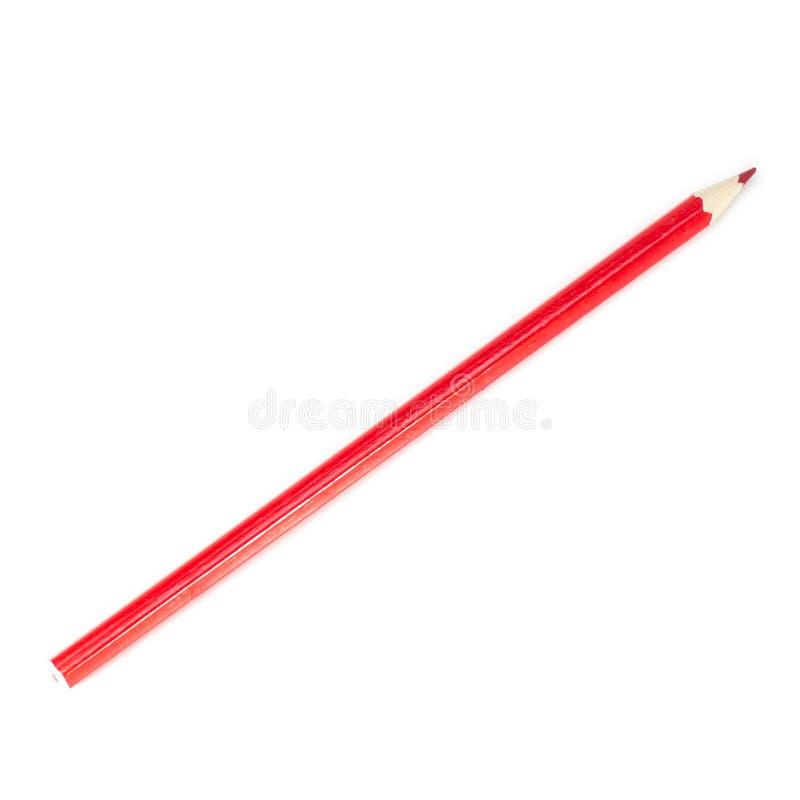 Красный карандаш стоковое изображение