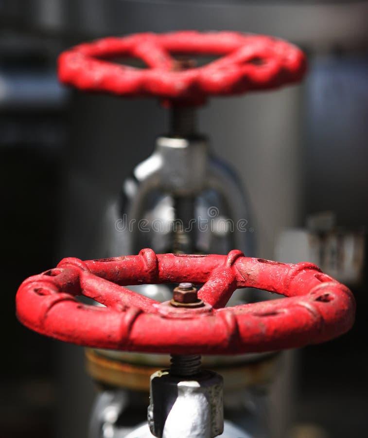 Красный клапан стоковое изображение