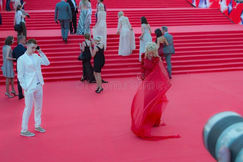 Красный ковер РАССТРАИВАТЬ 38 - отверстие фестиваля стоковые изображения rf
