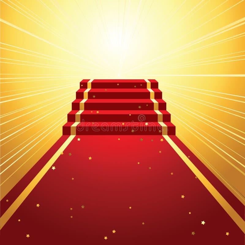 Красный ковер иллюстрация штока