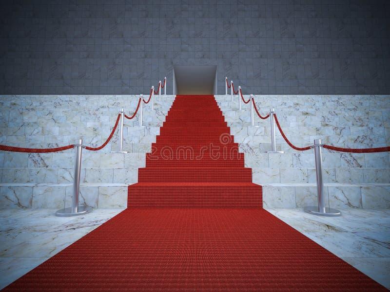 красный ковер 3ds иллюстрация вектора
