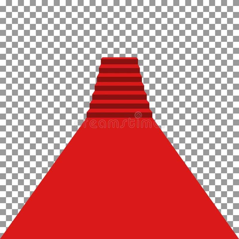 Красный ковер vip иллюстрация штока