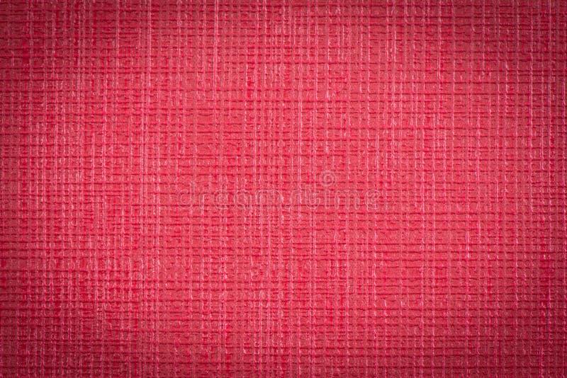 Красный кожаный конец текстуры вверх, который нужно использовать как предпосылка стоковая фотография
