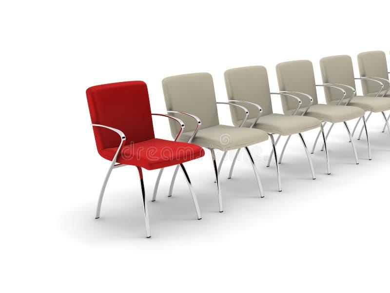 Красный кожаный стул стоковое изображение rf