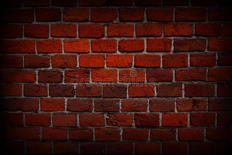 Красный конец-вверх кирпичной стены, текстура, предпосылка, grunge стоковая фотография