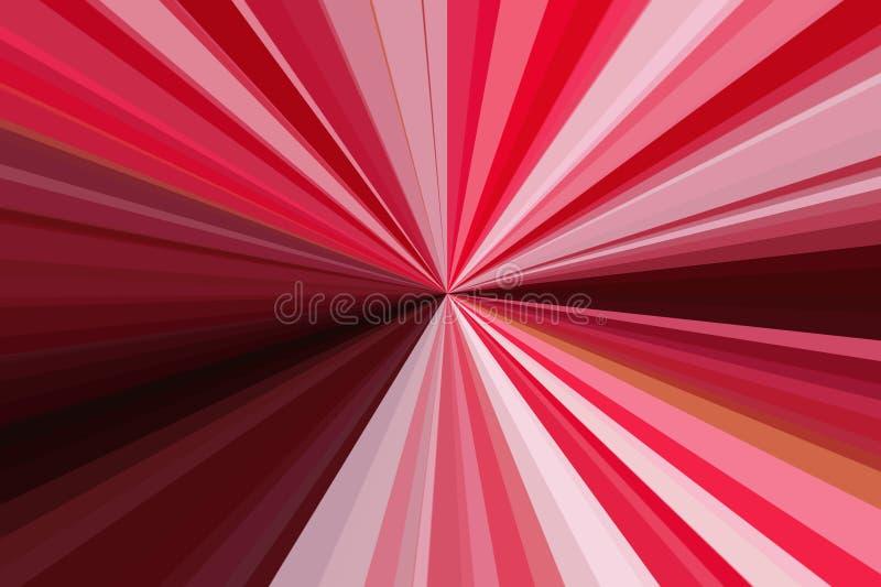 Красный конспект излучает предпосылку Красочная конфигурация пучка излучения нашивок Цвета тенденции стильной иллюстрации совреме стоковые фото